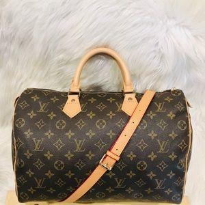 Authentic Louis Vuitton Speedy 35  #8.3d  VI 884